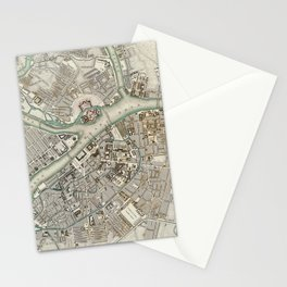 Vintage Map of St Petersburg Russia (1834) Stationery Cards