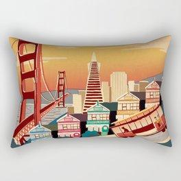 san francisco new art love illustration cute cover case skin floor pillow 2018 trend popular sticker Rectangular Pillow