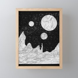 Somewhere in Space Framed Mini Art Print