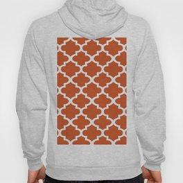 Arabesque Architecture Pattern In Burned Orange Hoody