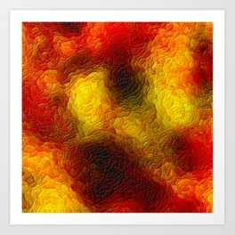 The sky behind the glass 3 Art Print