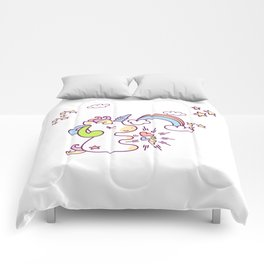 dreamy unicorn Comforters