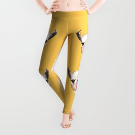 Bubble Gum Sneaky Llama in Yellow Leggings