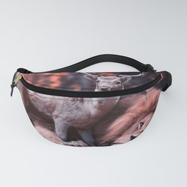 Unlikely Friends, Deer and Lion Fanny Pack