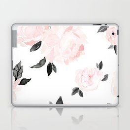 Vintage Blush Floral - BW Laptop & iPad Skin