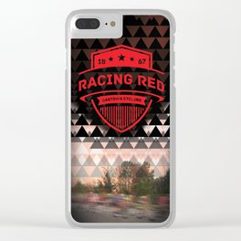 Gastown Cycling Racing Reds Clear iPhone Case