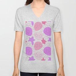 Girly pink design Unisex V-Neck