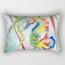 Colorful Seahorse Rectangular Pillow
