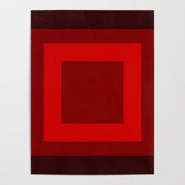 Dark Red Square Box Design Poster