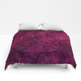Purple Heavy Metal Comforters