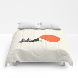 Camp // Geometric Minimalist Illustration Comforters