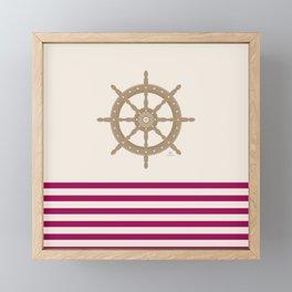 AFE Nautical Helm Wheel 2019 -3 Framed Mini Art Print