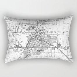 Vintage Map of Las Vegas Nevada (1952) BW Rectangular Pillow