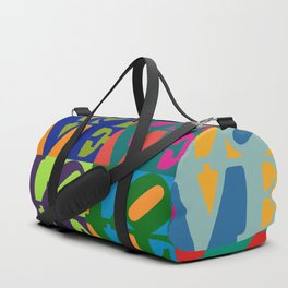 Love Pop Art Duffle Bag
