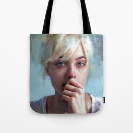 crying portrait Tote Bag