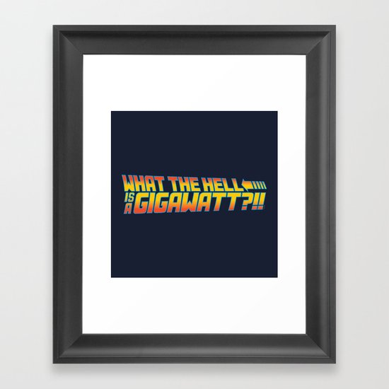 One Point Twenty One Framed Art Print