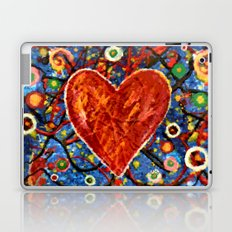 Abstract Painted Heart Laptop & iPad Skin