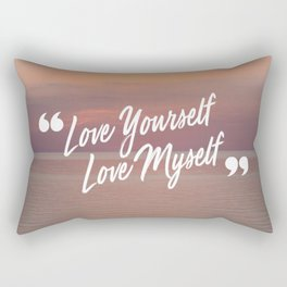 BTS: Love yourself, love myself Rectangular Pillow