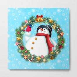 snowman and pal Metal Print