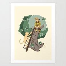 Stuck in a Tree Art Print