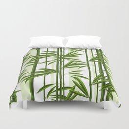 Green bamboo tree shoots pattern Duvet Cover