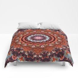Resplendent Fractal Mandala Comforters