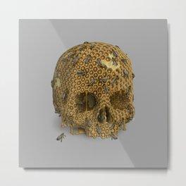 HoneySkull Metal Print
