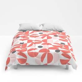 Living Coral Abstract Comforters