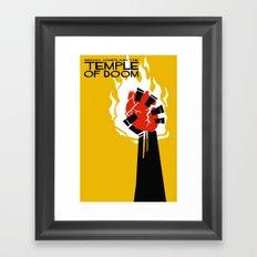 Indiana Jones and the Temple of Doom Minimal Movie Poster Framed Art Print