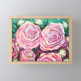 May Tea Roses Framed Mini Art Print