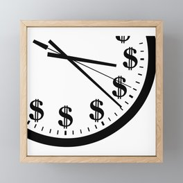 When Time Is Money Framed Mini Art Print