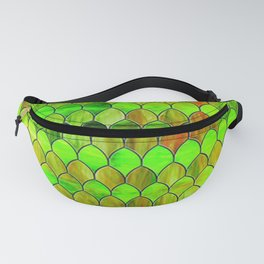 Green Stained Glass Fanny Pack