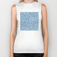 whales Biker Tanks featuring Blue Whales by Elena O'Neill