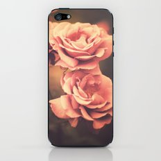 Three Pink Roses (Vintage Flower Photography) iPhone & iPod Skin