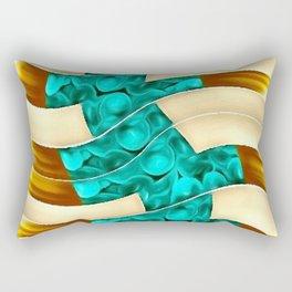 GOLD TURQ Rectangular Pillow