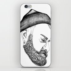 CAP & BEARD iPhone & iPod Skin