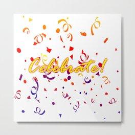 Celebrate Confetti Metal Print