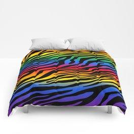 Zazzy Zebras - Rainbow Comforters