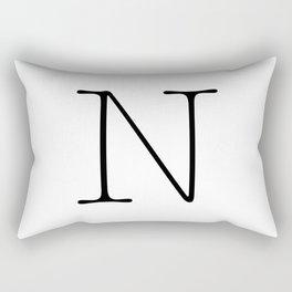 Letter N Typewriting Rectangular Pillow