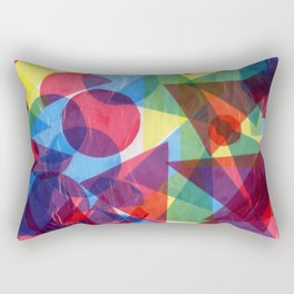 Beautiful Colorful Art Collage Rectangular Pillow