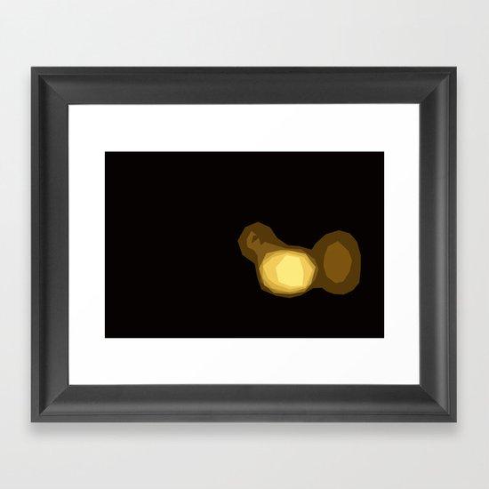 Stained Lights Framed Art Print