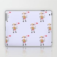 Snowbell the cow is in love Laptop & iPad Skin