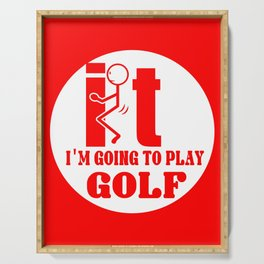 Golf it video game gambler friends funny gift Serving Tray