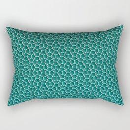Ophidian Teal Rectangular Pillow