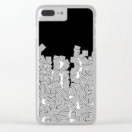 Minimalist black / White geometric Clear iPhone Case