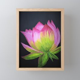 Lotus painting Framed Mini Art Print