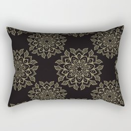 Boho Flourish Ornamental Arabesque Rectangular Pillow