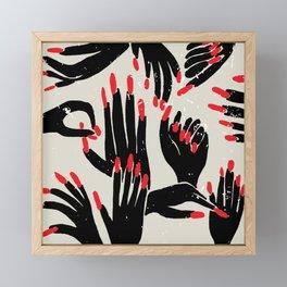 hands, fingers, nails & fingernails Framed Mini Art Print