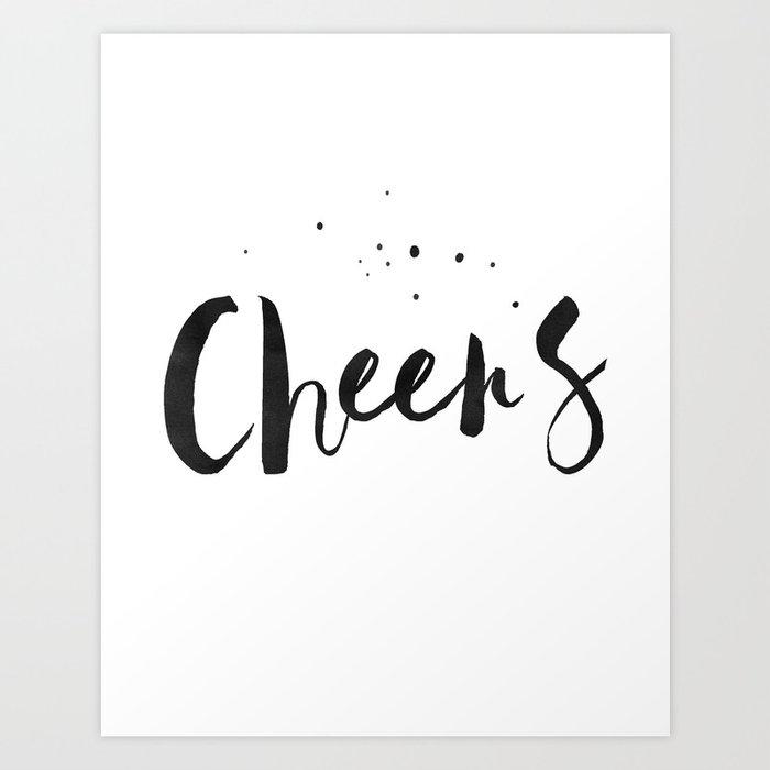 Printable Art Cheers Quote Prints Wedding Anniversary Celebrate Life