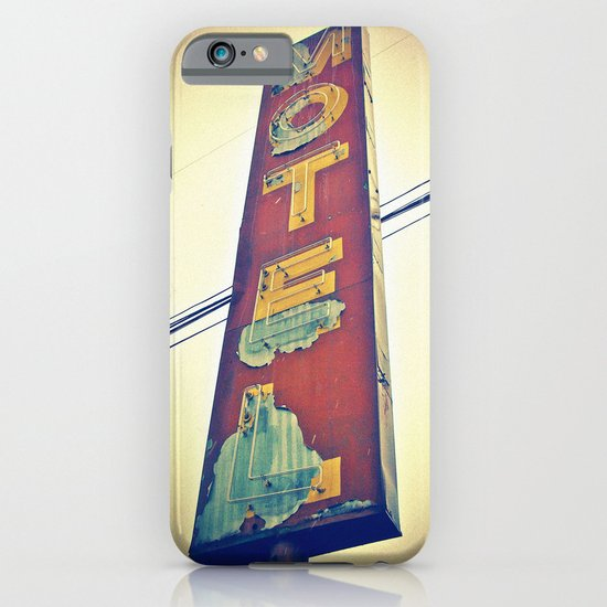 Motel Americana sign iPhone & iPod Case